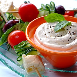 Creative dips make salads more enticing