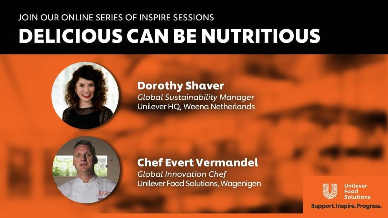 Join our online series of inspire sessions: Delicious Can Be Nutritious