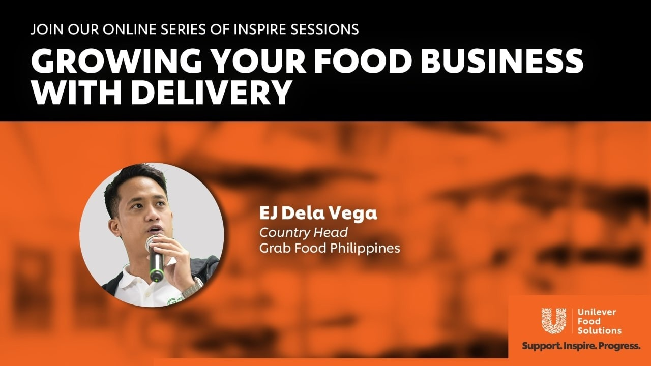 Join our online series of inspire sessions: Growing Your Food Business With Delivery