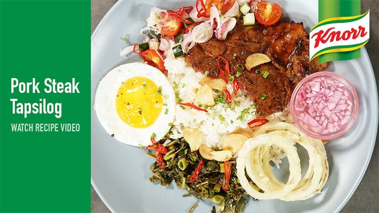 Knorr Pork Steak Tapsilog Watch recipe video