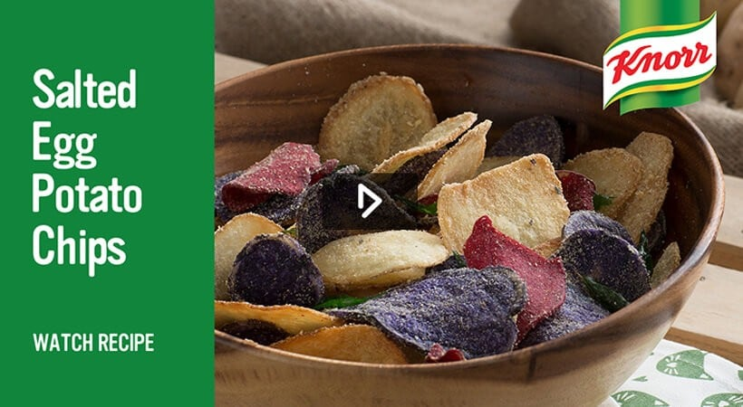 Knorr salted egg potato chips Watch recipe video
