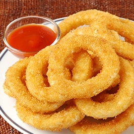 Deep-fried potato rings
