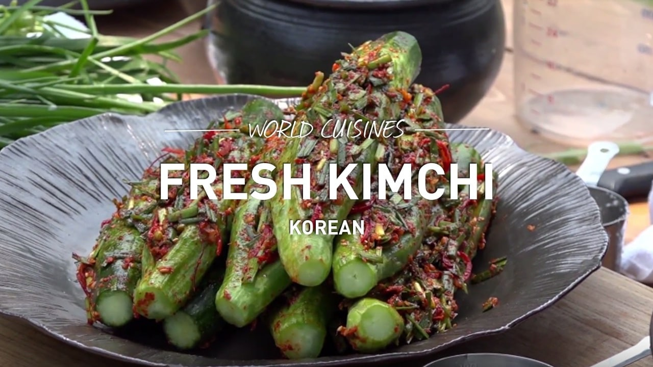 world cuisines fresh kimchi korean