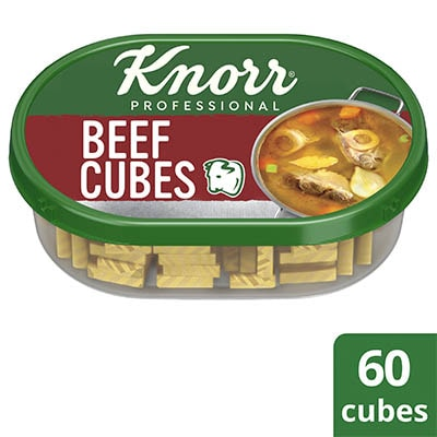 Knorr Beef Cubes Professional Pack 600g - Knorr Beef Cubes helps you consistently deliver a richer, full meaty flavor that diners love.