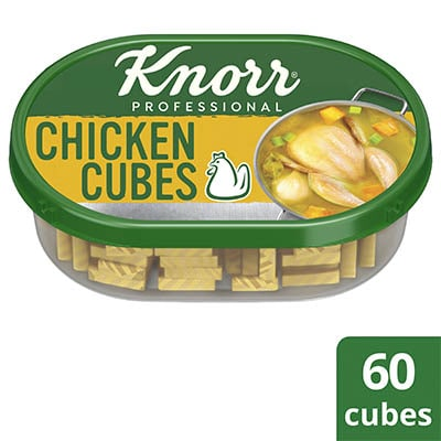 Knorr Chicken Cubes Professional Pack 600g - Knorr Chicken Cubes helps you consistently deliver a richer, full meaty flavor that diners love.