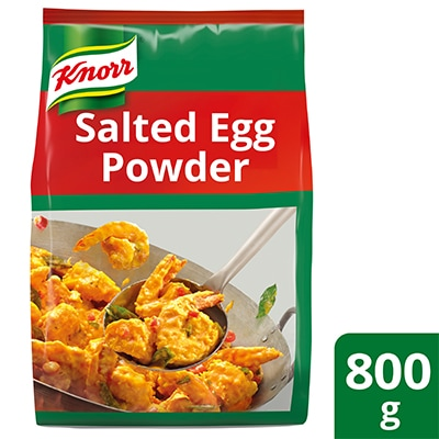 Knorr Golden Salted Egg Powder 800g - Knorr Golden Salted Egg Powder helps me create trendy salted egg recipes that my diners can't get enough of.
