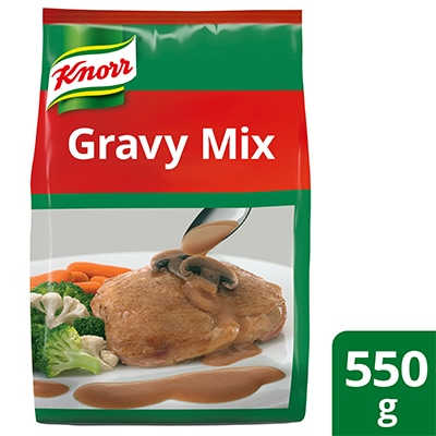 Knorr Gravy Mix 550g - Made with real mushrooms, Knorr Gravy Mix helps create the ideal gravy for fried chicken and other meat dishes.