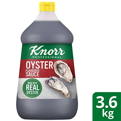 Knorr Oyster Flavoured Sauce 3.6kg - Knorr Oyster Flavoured Sauce gives dishes that ideal sweet-salty balanced taste.