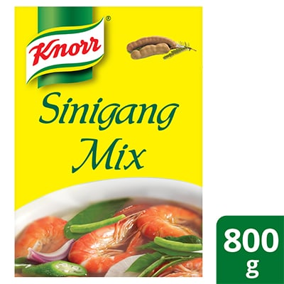 Knorr Sinigang Sa Sampalok Mix 800g - Knorr Sinigang Mix serves as the perfect base for new Sinigang ideas.