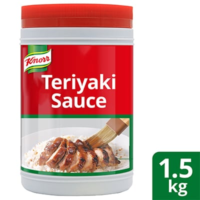 Knorr Teriyaki Sauce 1.5kg - Knorr Teriyaki Sauce is a Japanese inspired sauce that helps you achieve that unique blend of sweetness, saltiness, and umami consistently