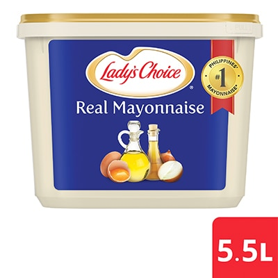 Lady's Choice Real Mayonnaise 5.5L - Lady's Choice, made with quality ingredients, has delicious taste and ideal thick texture for my dishes.