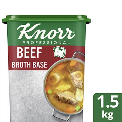 Knorr Beef Broth Base 1.5kg - Knorr Beef Broth Base helps you consistently deliver a richer, full meaty flavor that diners love.