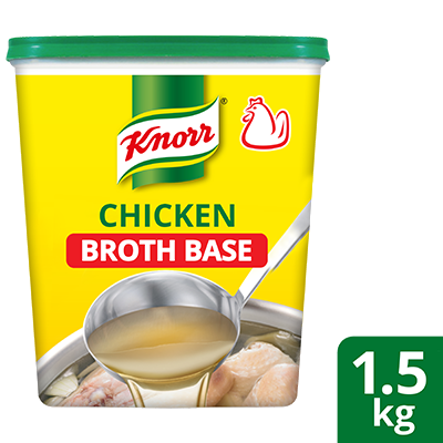 Knorr Chicken Broth Base 1.5kg - Knorr Chicken Broth Base helps you consistently deliver a richer, full meaty flavor that diners love.