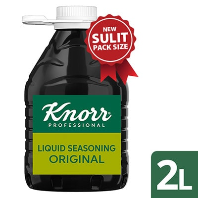 Knorr Liquid Seasoning 2L - Only Knorr Liquid Seasoning captures that iconic Filipino taste and aroma that diners love.
