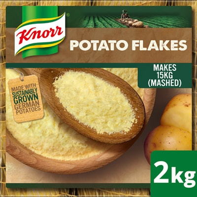 Knorr Potato Flakes 2kg - Knorr Potato Flakes - real potatoes, sustainably grown, harvested, dried, and flaked to give you a versatile potato base.