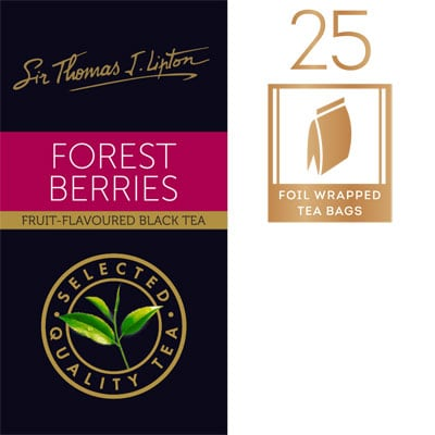 Sir Thomas J. Lipton Forest Berries 25 x 2g - Impress your guests with Sir Thomas Lipton teas, exclusively selected from the world's renowned tea regions.