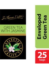 Thomas J. Lipton Green Tea with Jasmine 25 x 2g - Impress your guests with Sir Thomas Lipton teas, exclusively selected from the world's renowned tea regions.