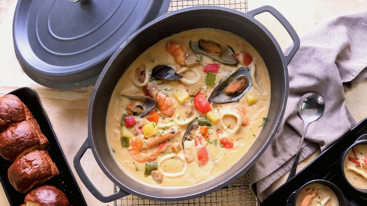 Filipino Style Creamy Seafood Bouillabaisse Recipe Unilever Food Solutions