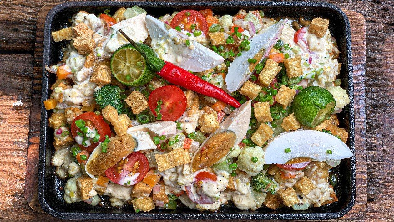 Tofu and Vegetable Sisig